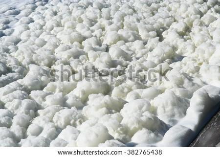 Fluffy foam. - stock photo