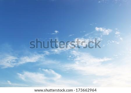 Fluffy sky background - stock photo