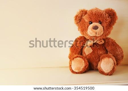 Fluffy teddy bear  - stock photo