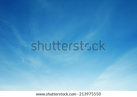 fluffy white cloud and blue sky in morning - stock photo