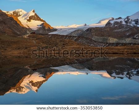 Fluhalp alpine Hostel, Zermatt Switzerland - stock photo