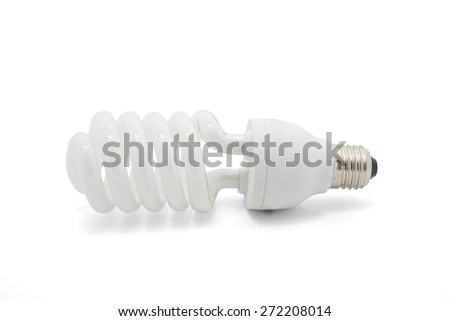 Fluorescent lamps isolated on white background. - stock photo