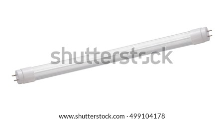 fluorescent tube compact lamps isolated on white background