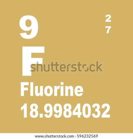 Fluorine periodic table elements stock illustration 596232569 fluorine periodic table of elements urtaz Images