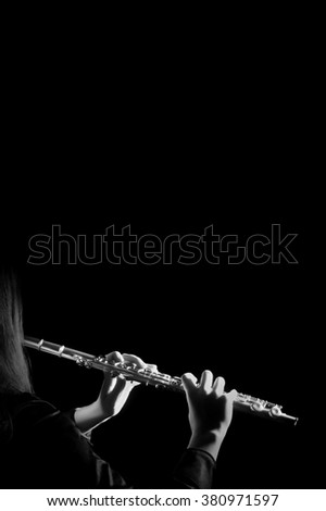 Flute instrument flute player hands Flutist playing classical music instrument