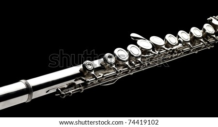 flute on black background