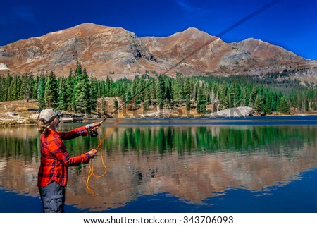 Fly Fishing on a Clear Day Lake Irwin, Colorado