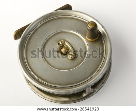 fly reel - stock photo