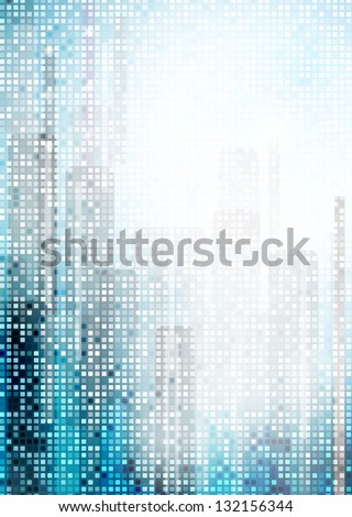 Flyer or brochure template, raster copy of vector file - stock photo