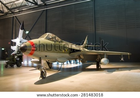 FLYGVAPENMUSEUM, LINKOPING, SWEDEN - MAY 8, 2015: Swedish Air Force museum in Linkoping, Sweden, May 2015.