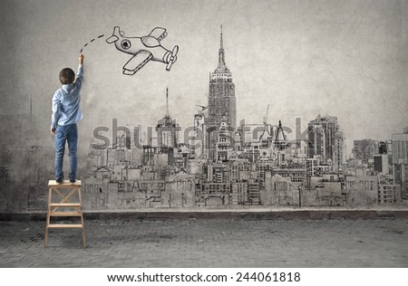 Flying away  - stock photo