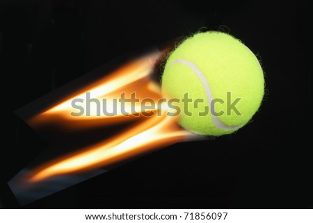 Flying balls on a black background. - stock photo