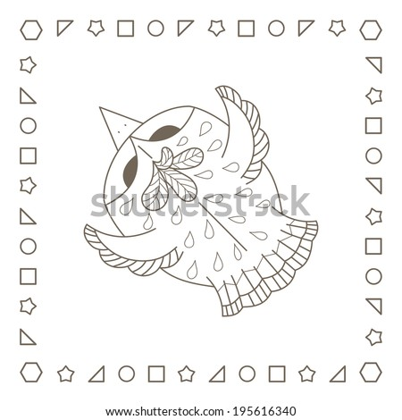 Cute crow stock illustration 179428748 shutterstock for Flying crow coloring page