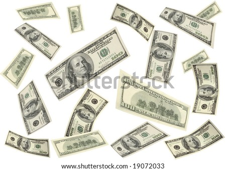 flying money - stock photo