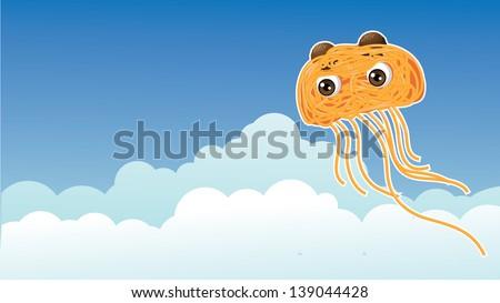 Flying Spaghetti Monster. jpg - stock photo