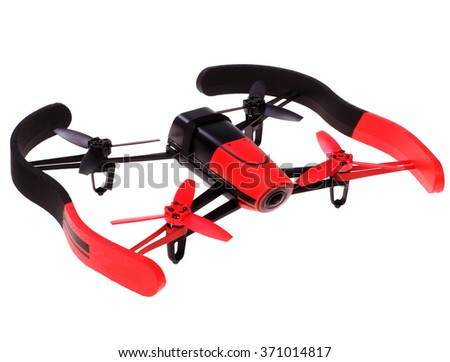 flying unmanned drone. quadrocopter