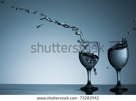 Flying Water - stock photo