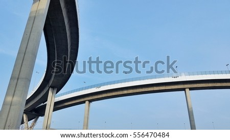 flyover bridge in bangkok, ring route for connect industrial area