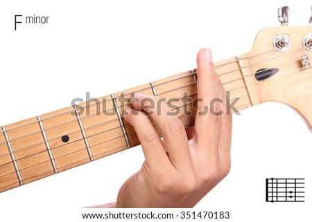 Fm Basic Minor Keys Guitar Tutorial Stock Photo 351470183 - Shutterstock