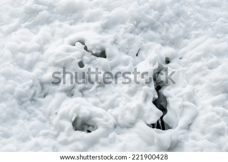 foam draining down the sink - stock photo