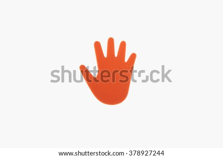 foam hands - stock photo