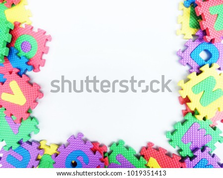 Foam Letter Frame Abstract Background Isolated Stock Photo ...