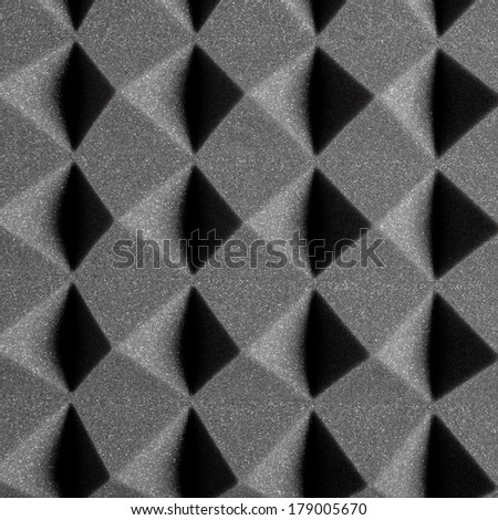 Foam Rubber Acoustic Treatment - stock photo