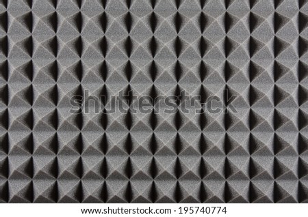 Foam Rubber Acoustic Treatment Background - stock photo