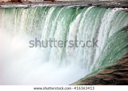 foaming waters of Niagara Falls