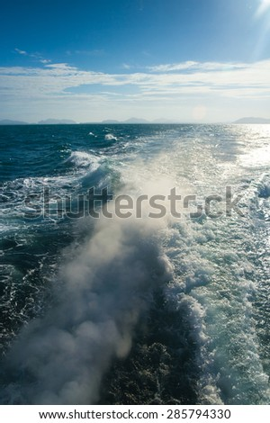 Foaming Way Wind in your Face  - stock photo