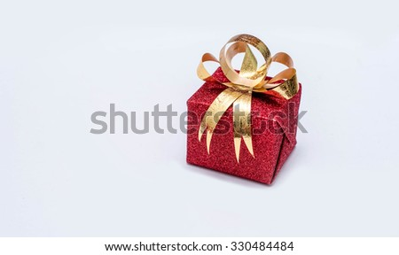 focus christmas gift box - stock photo