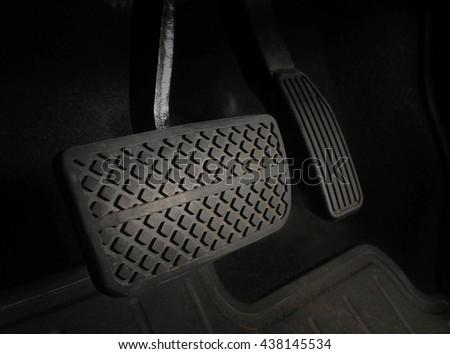 stock-photo-focus-of-brake-pedal-of-auto