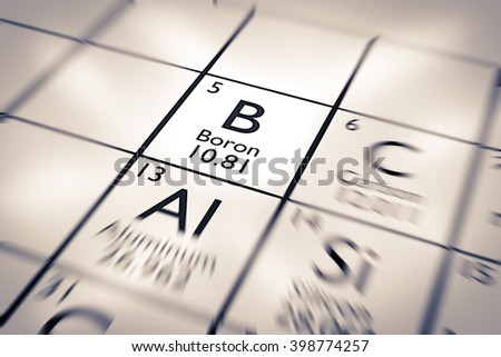 Focus on Boron Chemical Element from the Mendeleev Periodic Table
