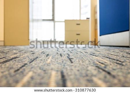 focus on carpet floor in a office - stock photo