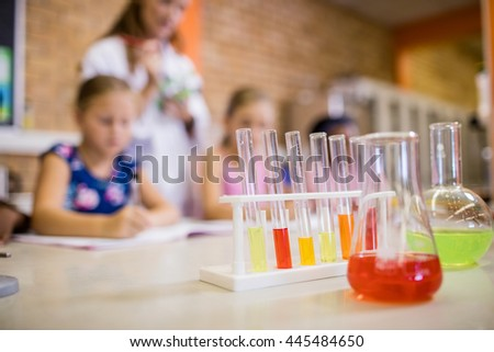Focus on chemical objects at school
