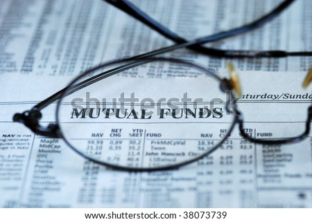 Focus on mutual fund investing - stock photo