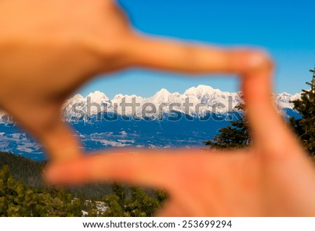 Focus on nature traveling - stock photo