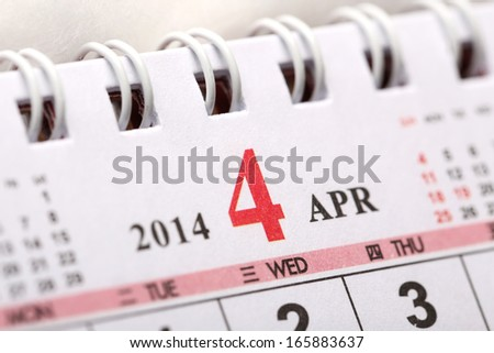 Focus on New year of April with Chinese style binder calendar