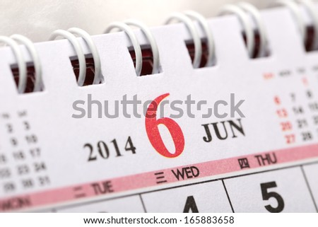 Focus on New year of June with Chinese style binder calendar