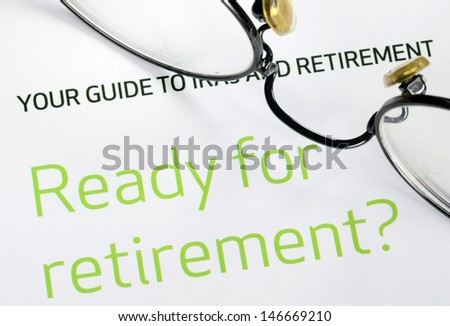 Focus on the investment in the retirement plan concept of finance and retirement - stock photo