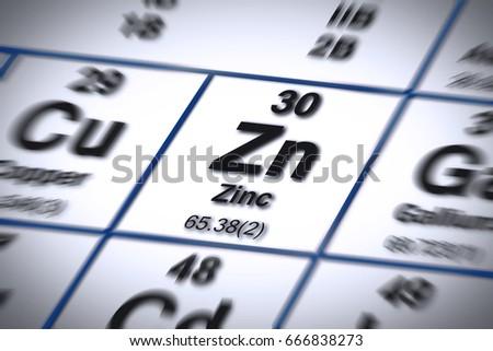 Focus on zinc chemical element important stock illustration focus on zinc chemical element important mineral salt for proper nutrition concept image with urtaz Choice Image