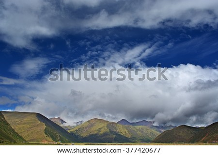 fog and cloud mountain valley landscape,