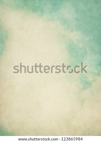 Fog and clouds on a textured vintage background with grunge stains.  Image has a pleasing paper grain visible at 100%. - stock photo
