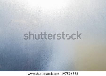 fog condensation on window glass - stock photo