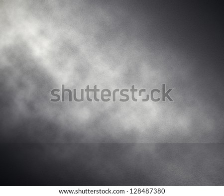 fog in grey room, studio background - stock photo