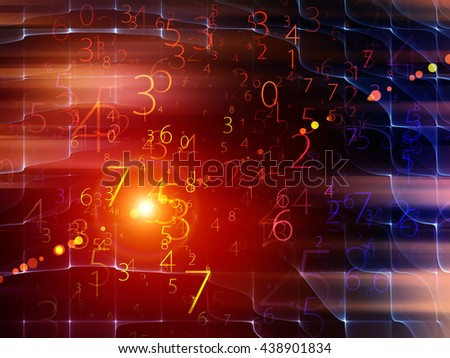 Fog of Numbers series. Background design of Digits and lights on the subject of math, science, technology and education - stock photo