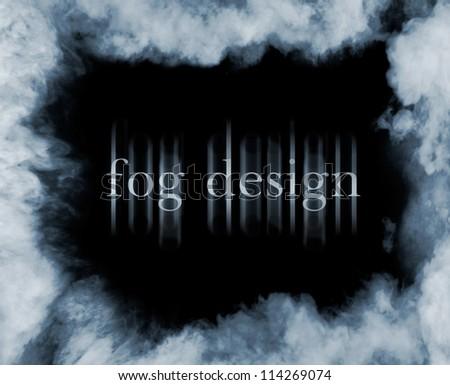 fog on black - stock photo