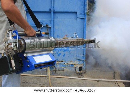 Fogging mosquito in the around of container