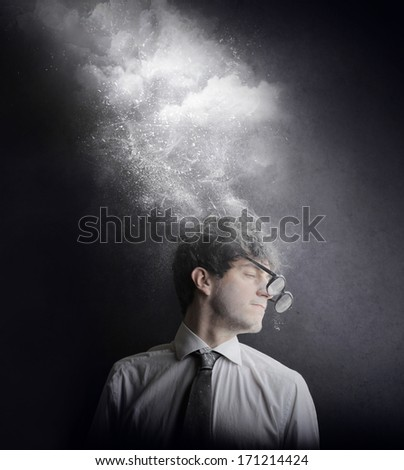 foggy businessman - stock photo