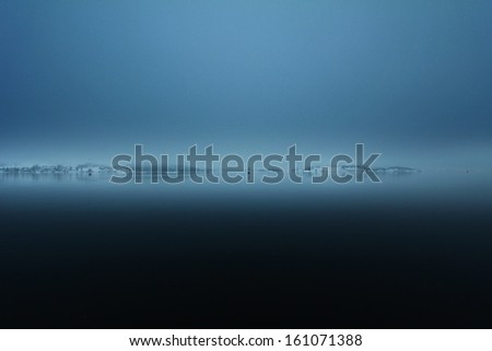 foggy fjord, Oslo - stock photo